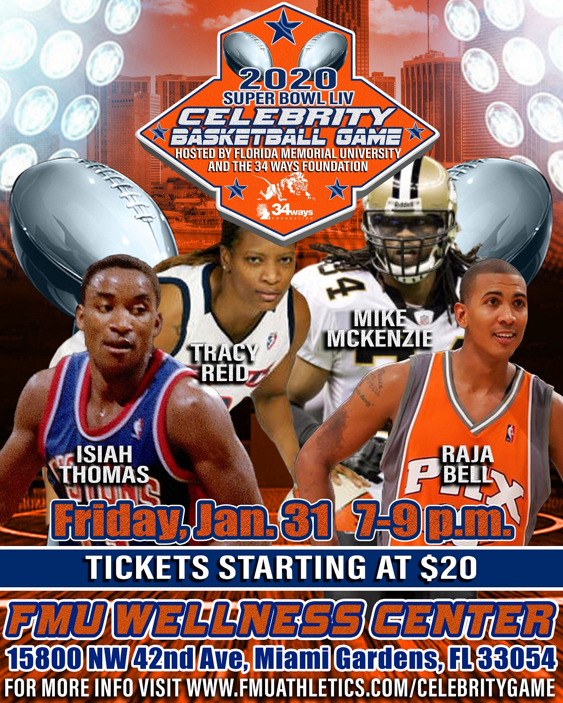Florida Memorial University Super Bowl LIV Celebrity Basketball Game