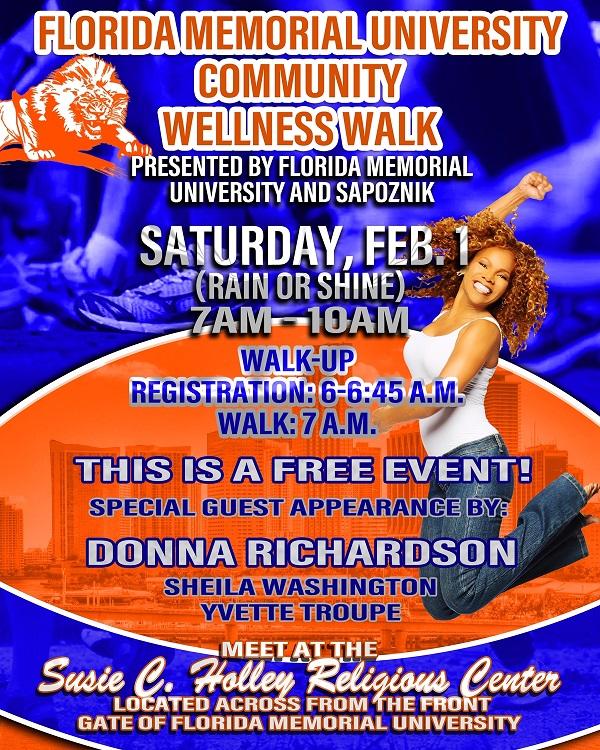 Florida Memorial University Super Bowl LIV Community Wellness Walk