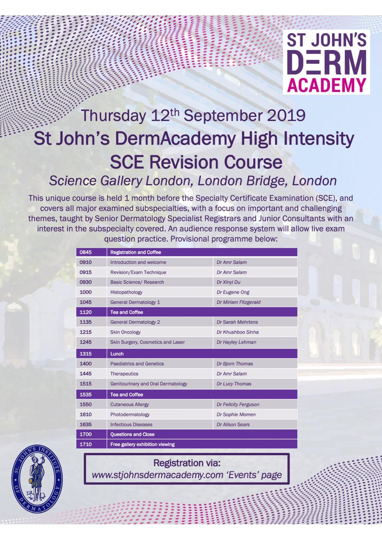 SCE Revision Course Flier 2019