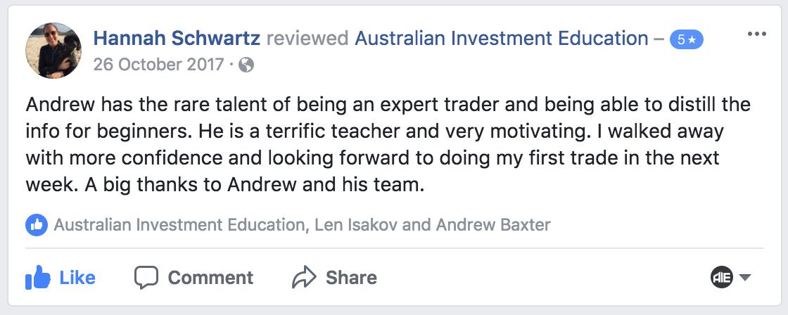 Andrew Baxter, Adelaide Trading Workshop