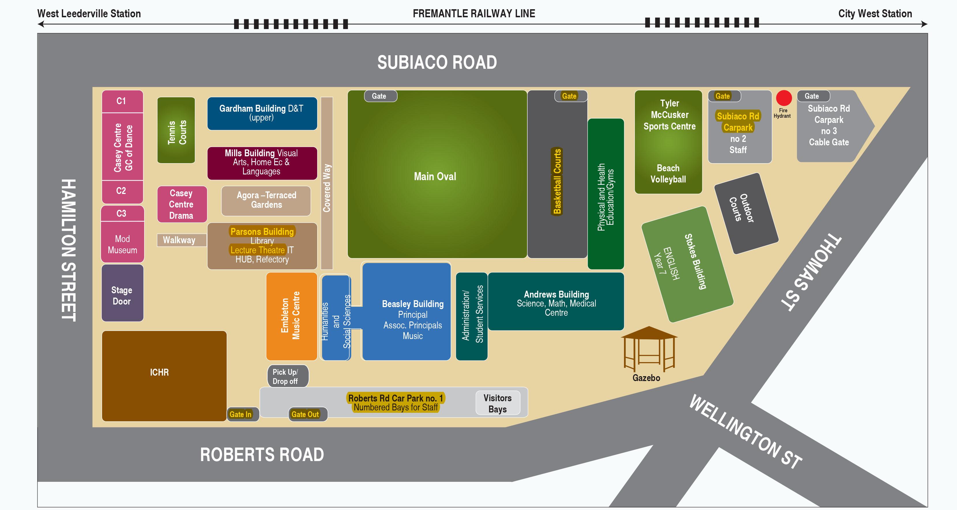 Perth Modern School Map