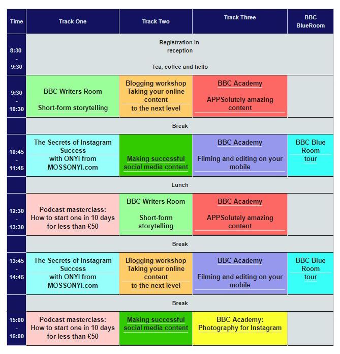 Digital Skills Day Table