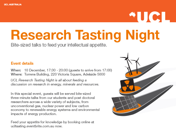 UCL Australia Research Tasting Night