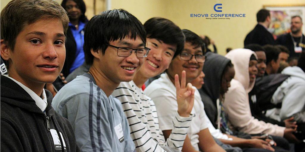 Students Sitting at Enov8 Conference