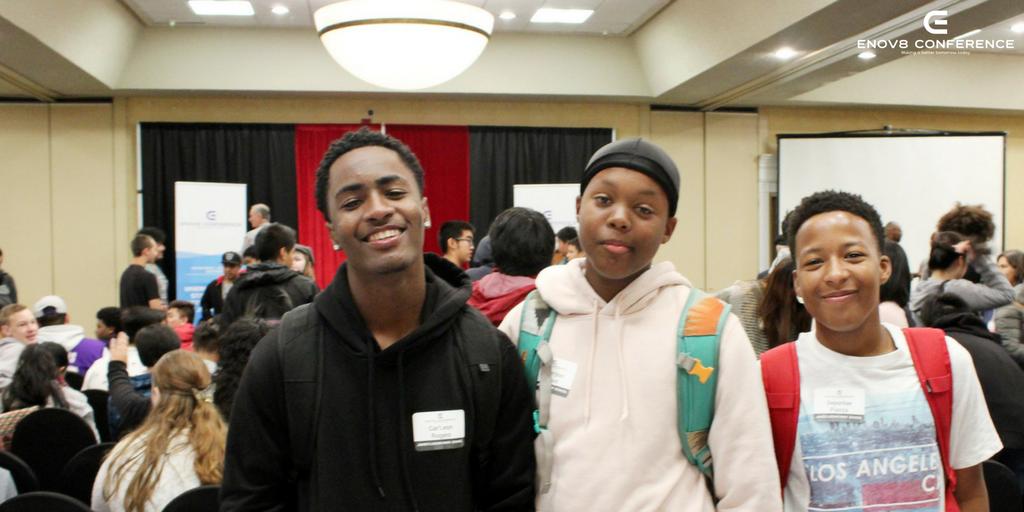 Students Smiling at Enov8 Conference
