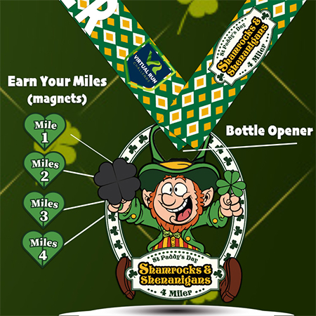 Shamrocks & Shenanigans Finisher Medal