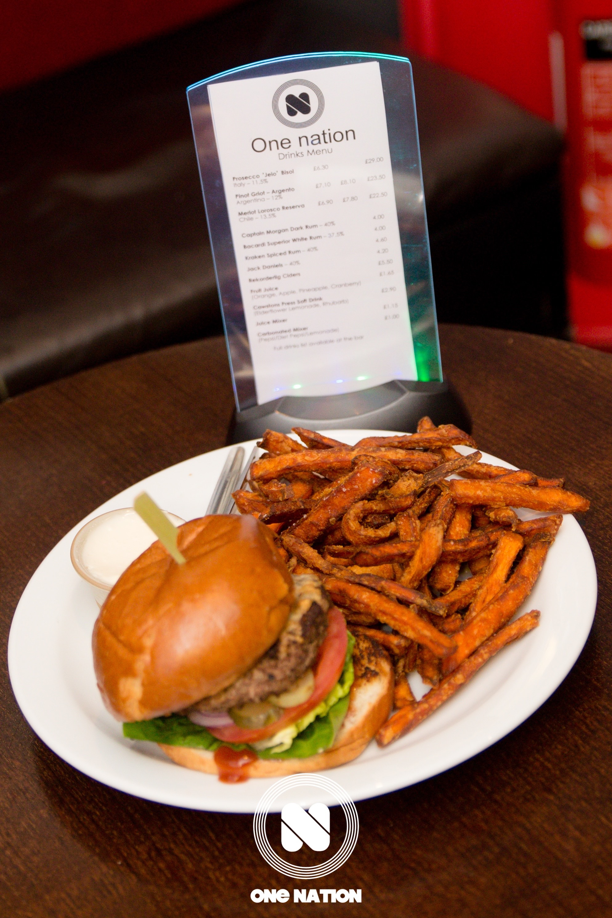 Great food and drinks available at One Nation, Upstairs at the Ritzy, Brixton