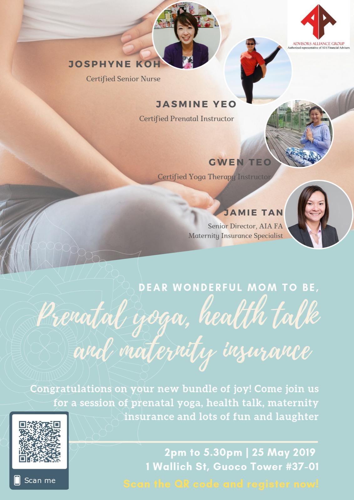 Prenatal health talk & Yoga