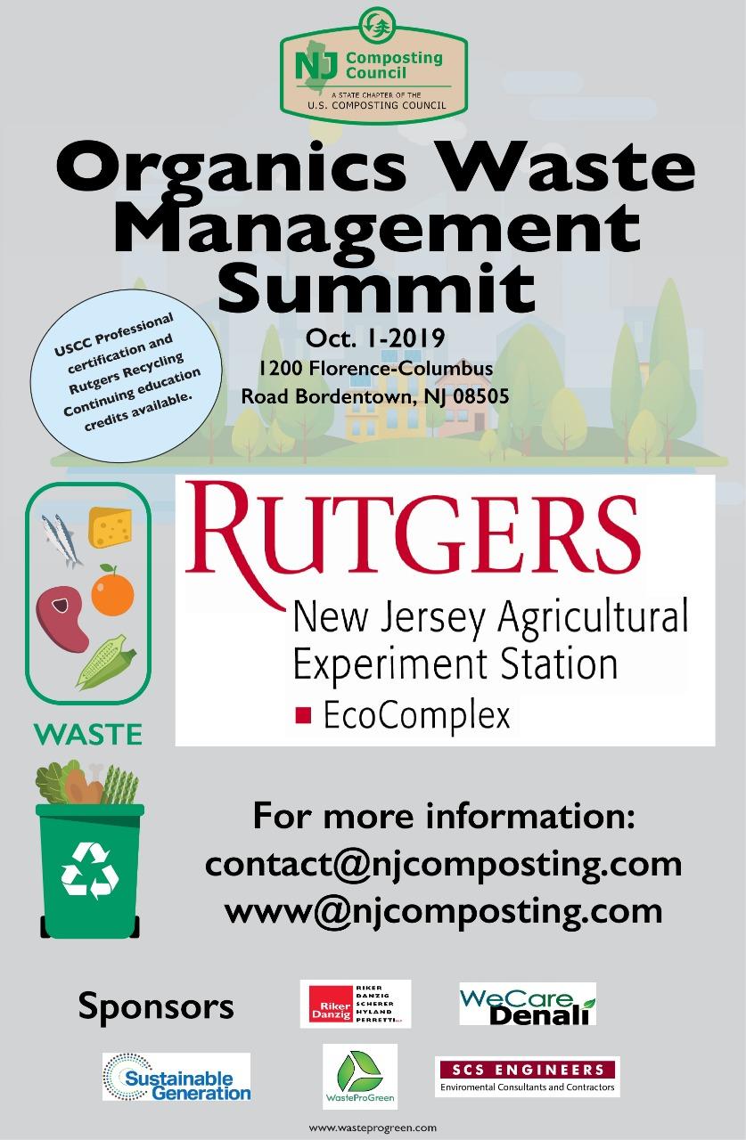 Organics Waste Management Summit Oct 1st