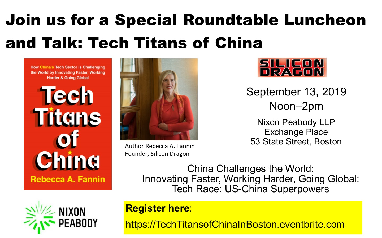 Tech Titans of China in Boston, luncheon
