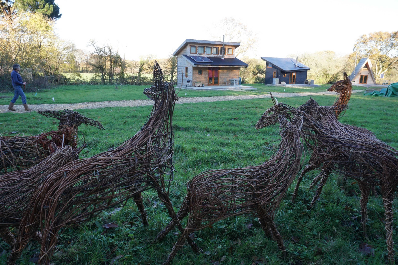 Deer sculptures