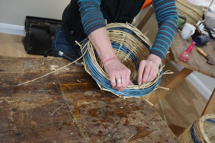 willow weaving at Tiny Homes Holidays