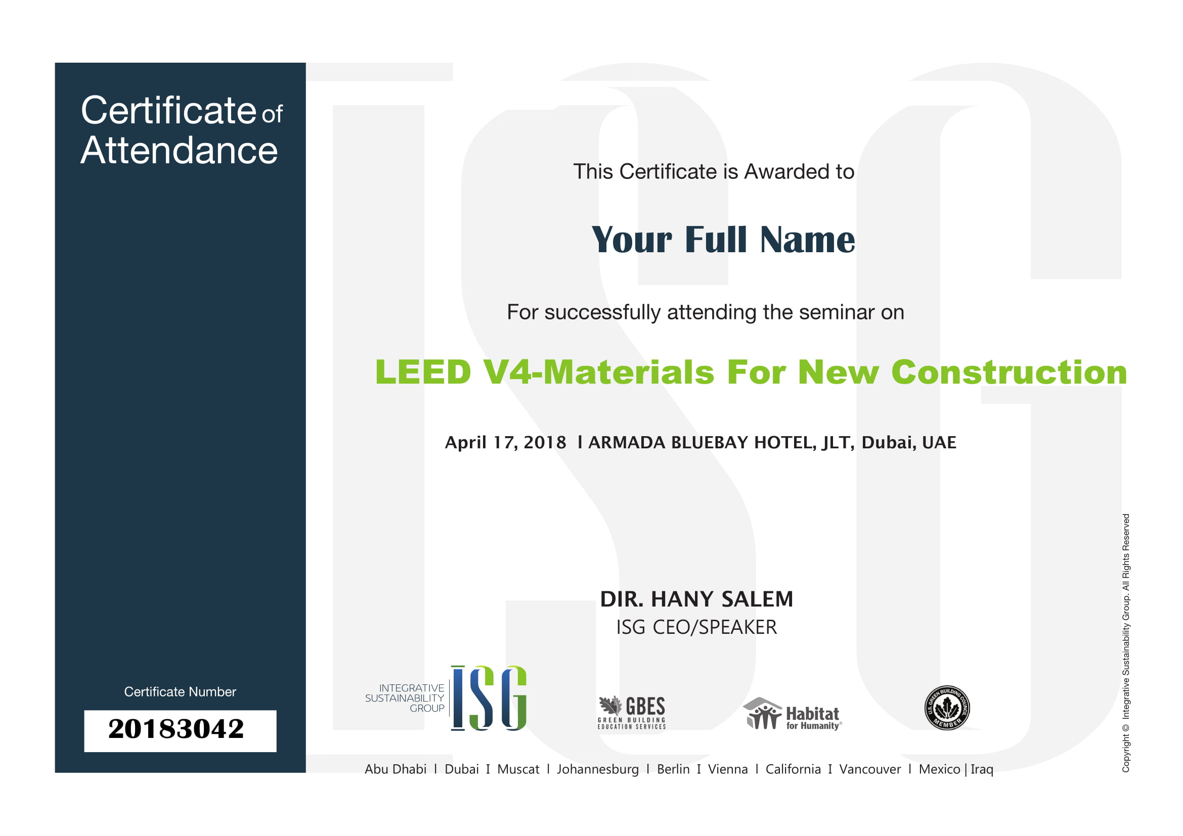 Leed v41 materials for new construction tickets tue apr 17 seminar coordinator alegria 1betcityfo Gallery