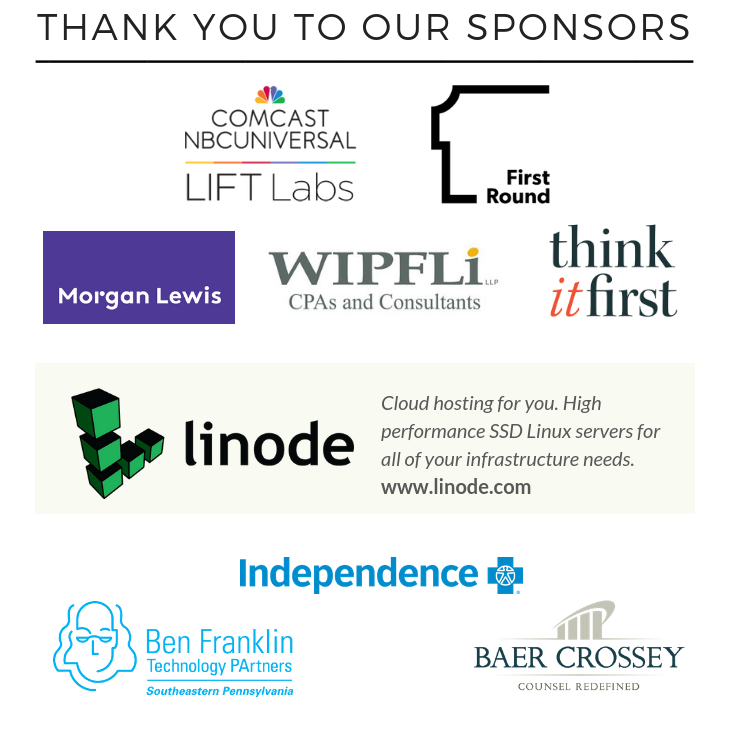 Sponsors of Founder Factory 2018