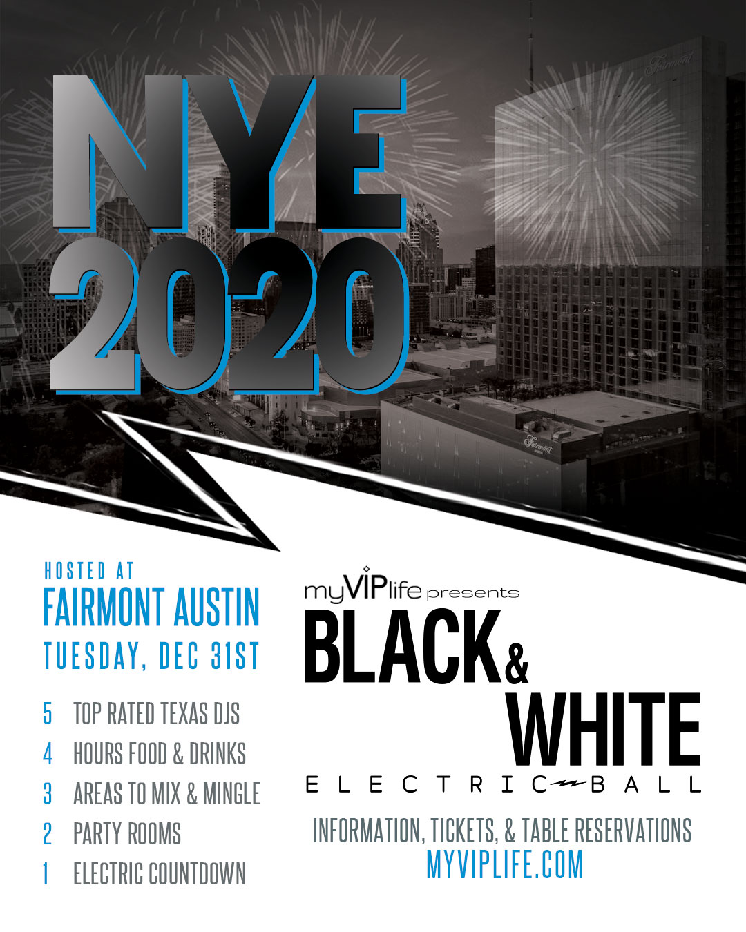 New Year's Eve Fairmont Austin My VIP Life