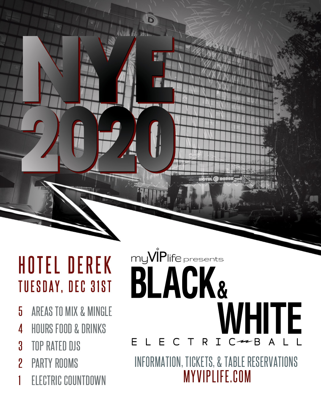 New Year's Eve Hotel Derek Houston Texas My VIP Life