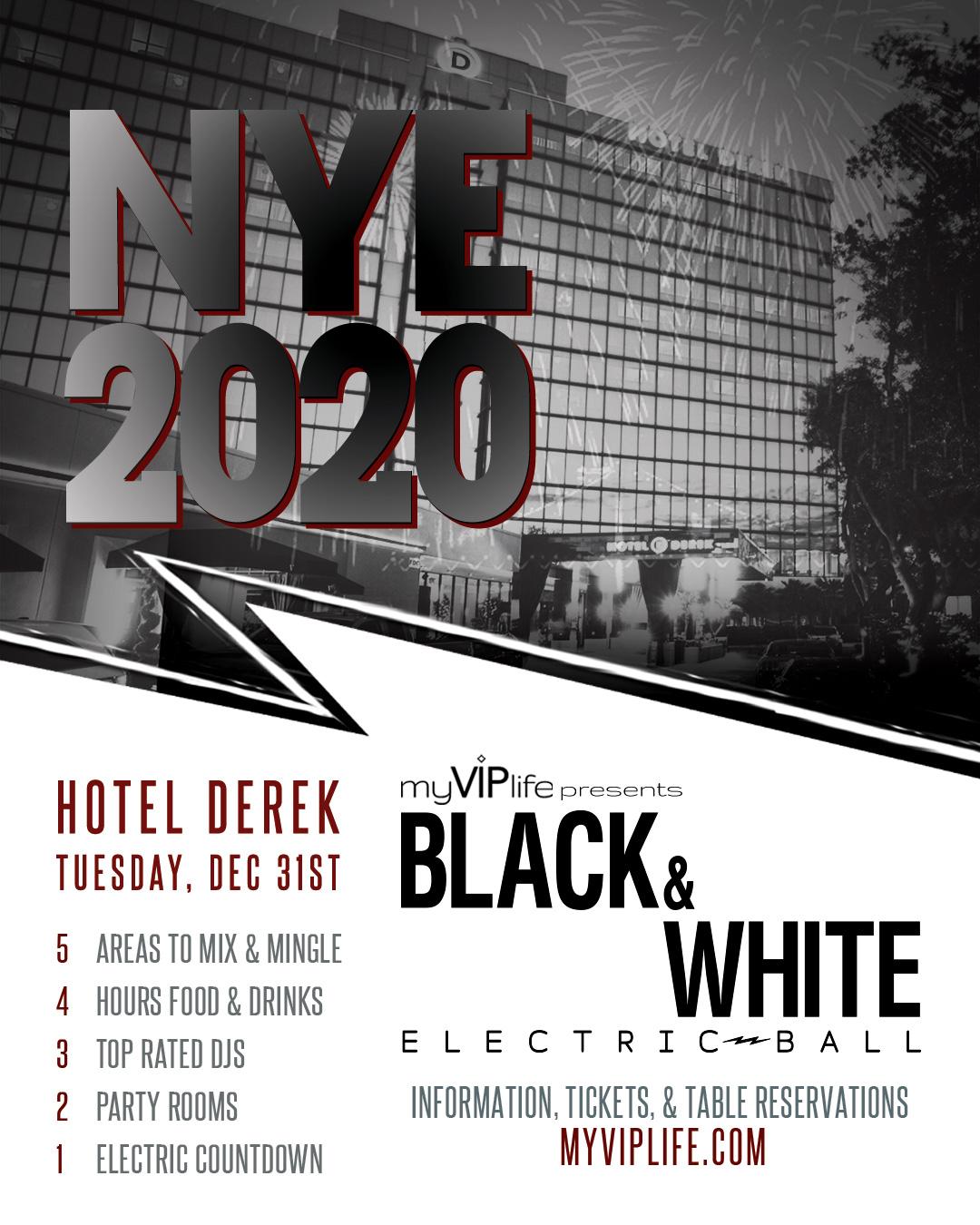 Houston Event Calendar 2020 Black & White NYE Electric Ball | New Year's Eve 2020 (Houston, TX