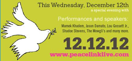 Peacelink Live! 12.12.12 TICKET SALES TEMPORARILY SUSPENDED
