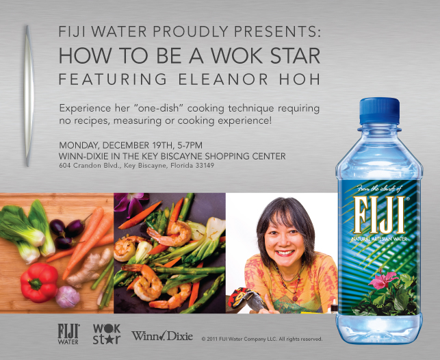Fiji Water Wok Star Promotion Flyer