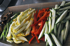Veggies ready for stir fry