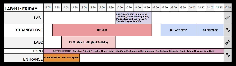 Schedule FAF2018 Friday