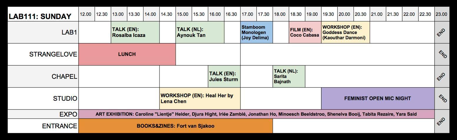 Schedule FAF2018 Sunday