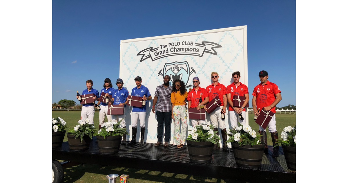 Polo Match Trophy Ceremony with 49rs WR Pierre Garcon and L'union Suite CEO Wanda Tima