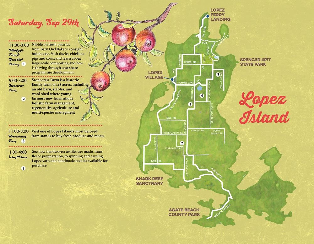 Lopez Island Farm Tour Map