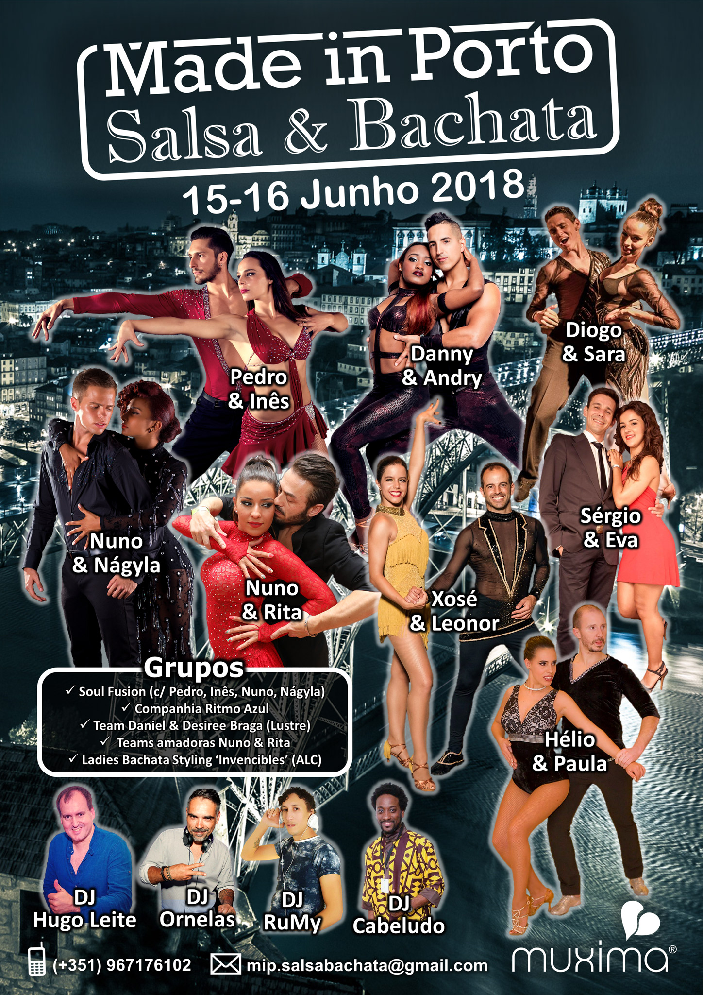 Cartaz Made in Porto: Salsa & Bachata