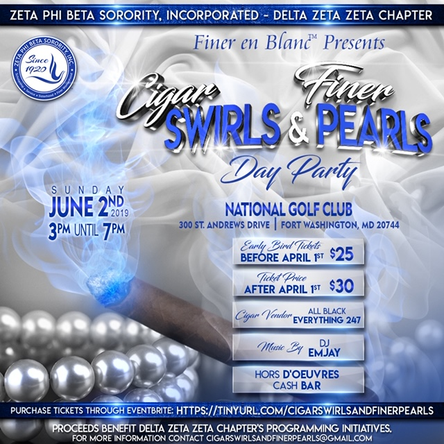 Cigar Swirls & Finer Pearls Day Party, June 2, 2019