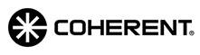 coherent logo black letters on white background