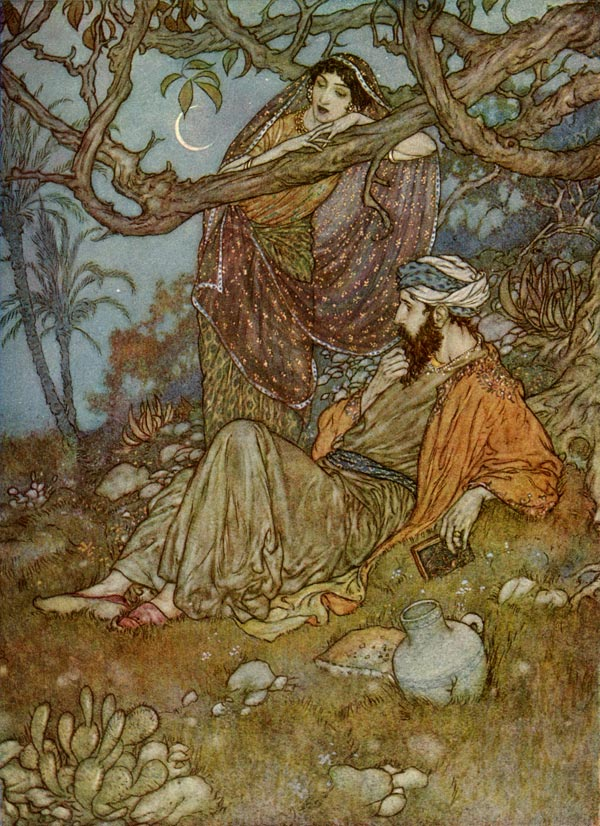Illustration by Edmund Dulac of Omar Khayyam's The Rubaiyatt