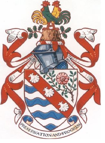 The Town's Crest with the persian rose