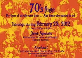 Raphael in Studio City Launches '70s Night