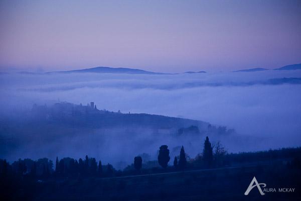 Sunrise in San Giminagno, Italy