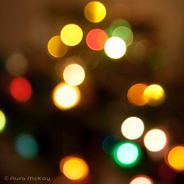 bokeh with Christmas Lights - Aura McKay