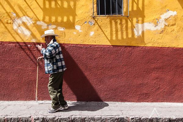 The colourful walls of San Miguel de Allende, Mexico