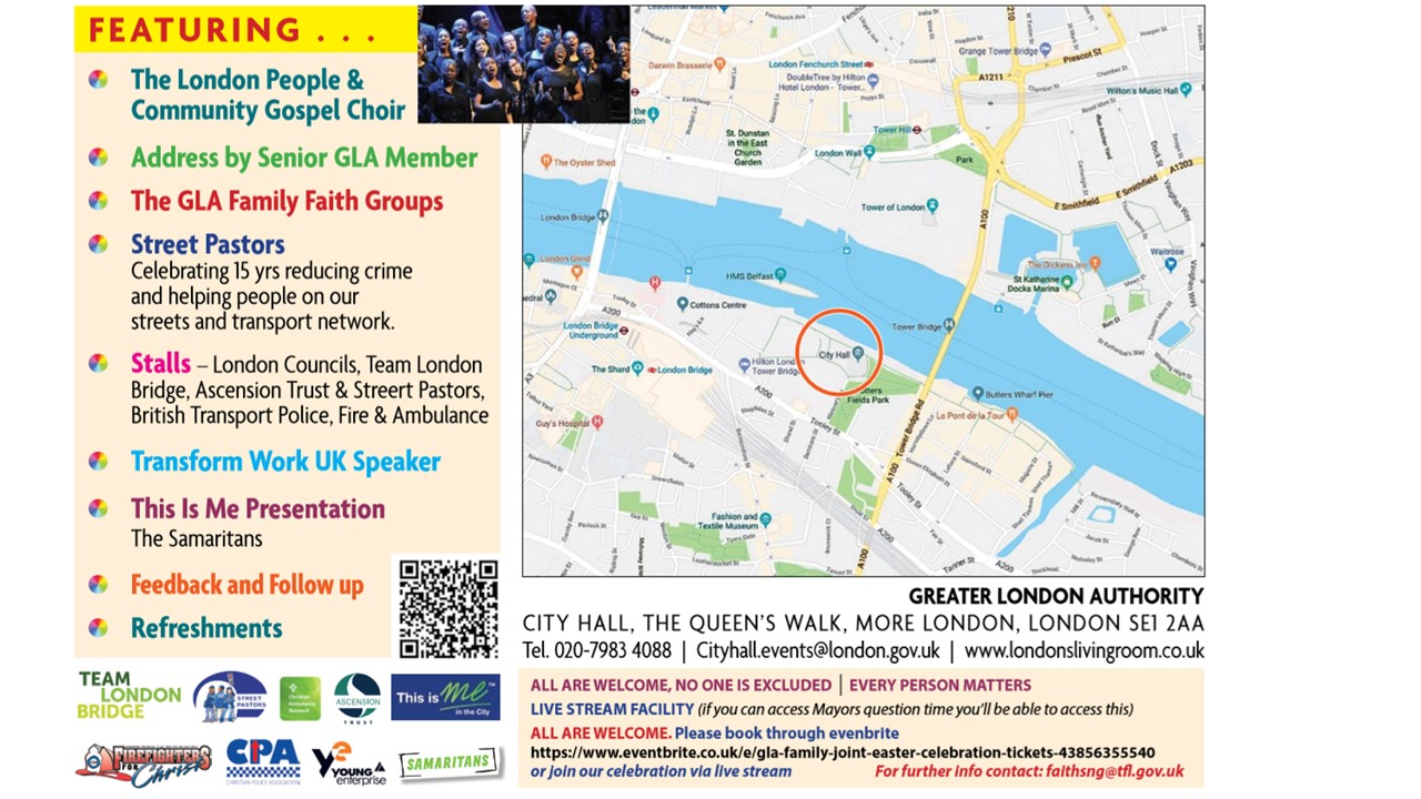 Joint GLA?TFL Easter Event Programme and Details