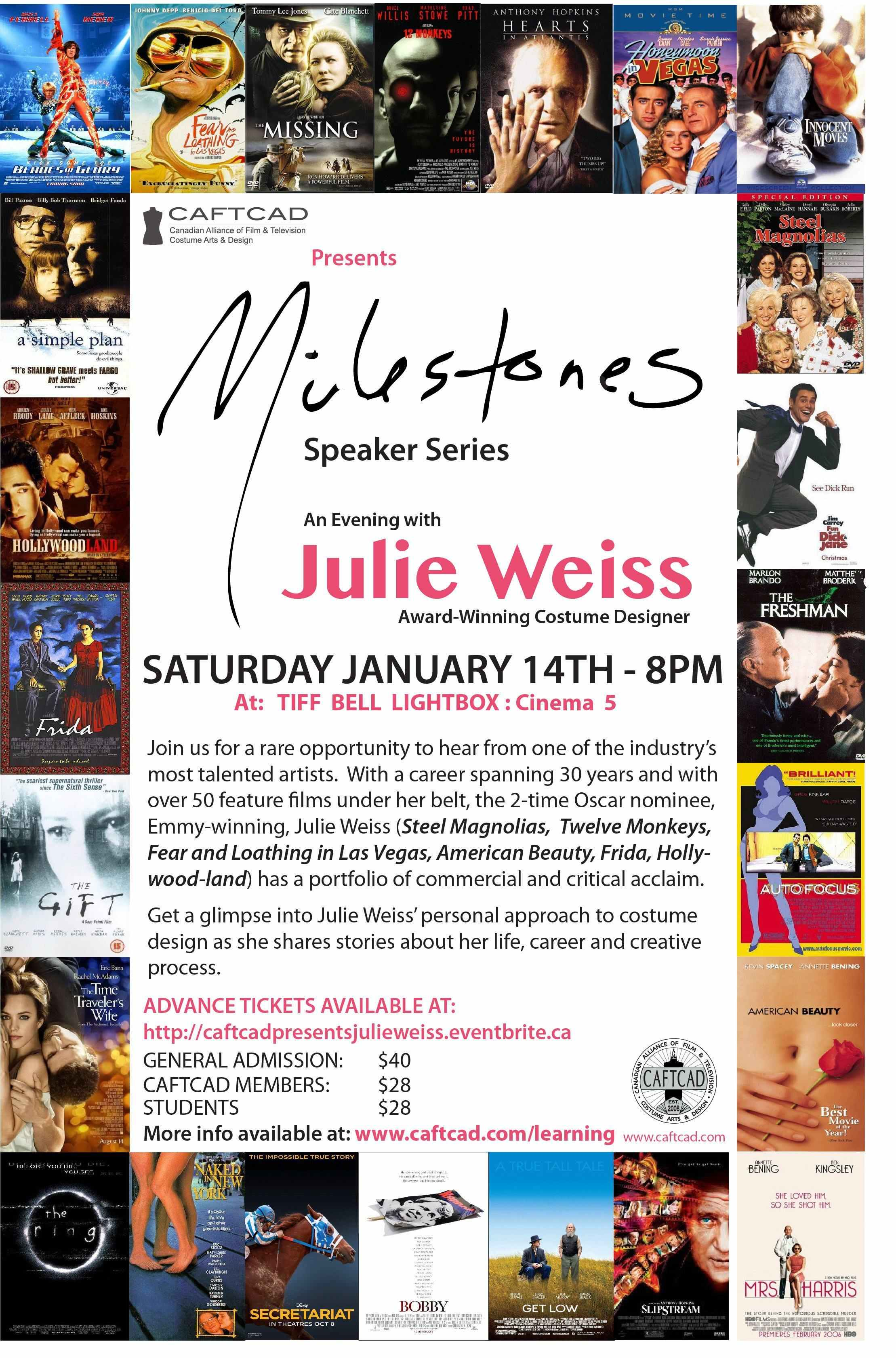 Milestones Speaker Series w/ Julie Weiss