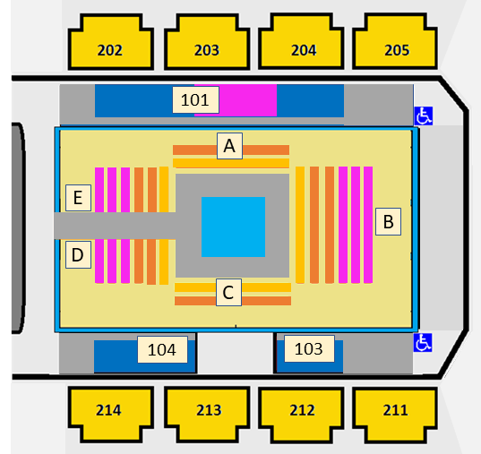 Grady Cole Center Seating Map
