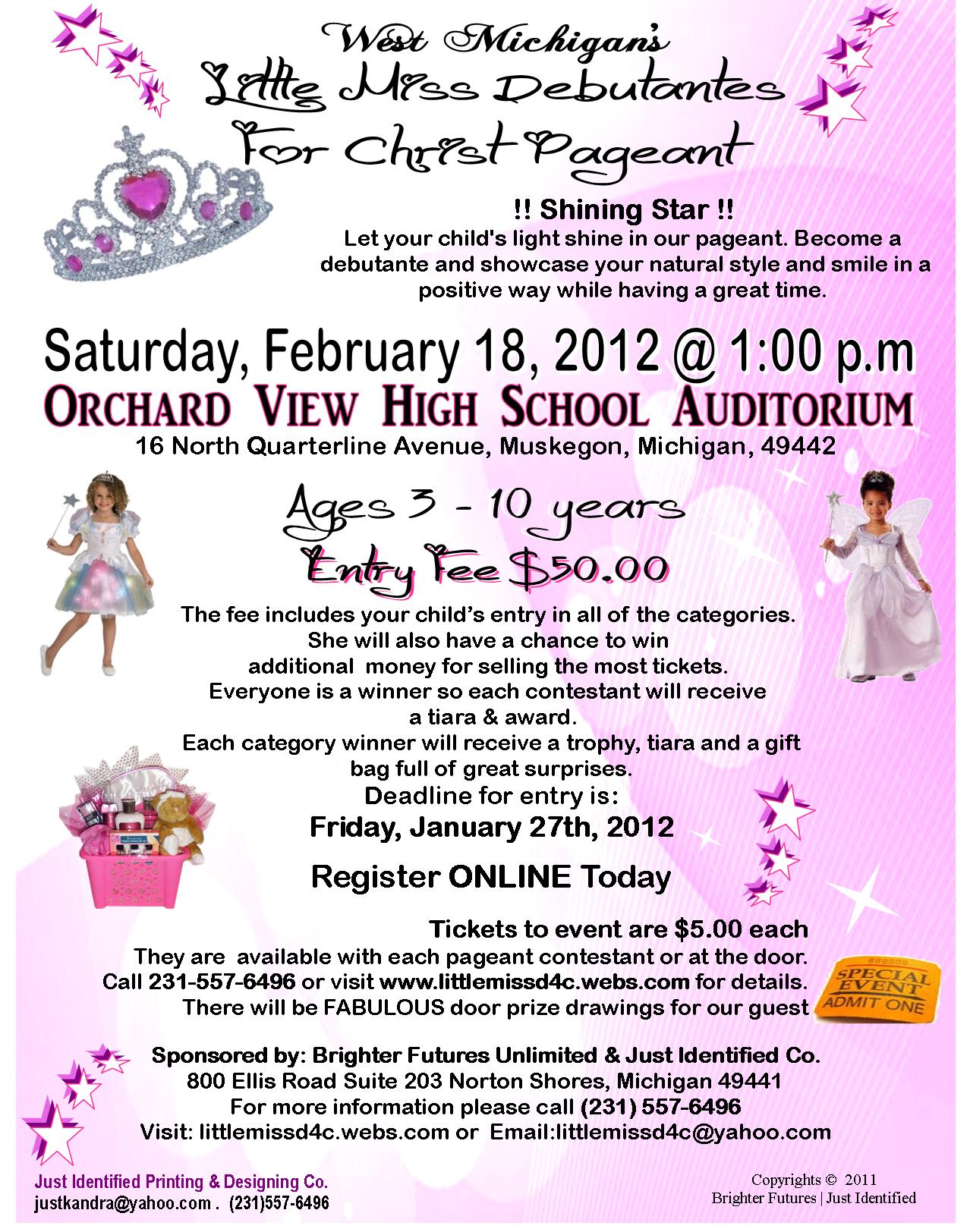 Have questions about West Michigan's: Little Miss Debutante 4 Christ ...