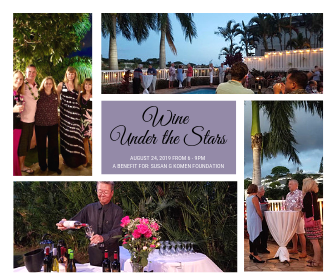 wine event collage