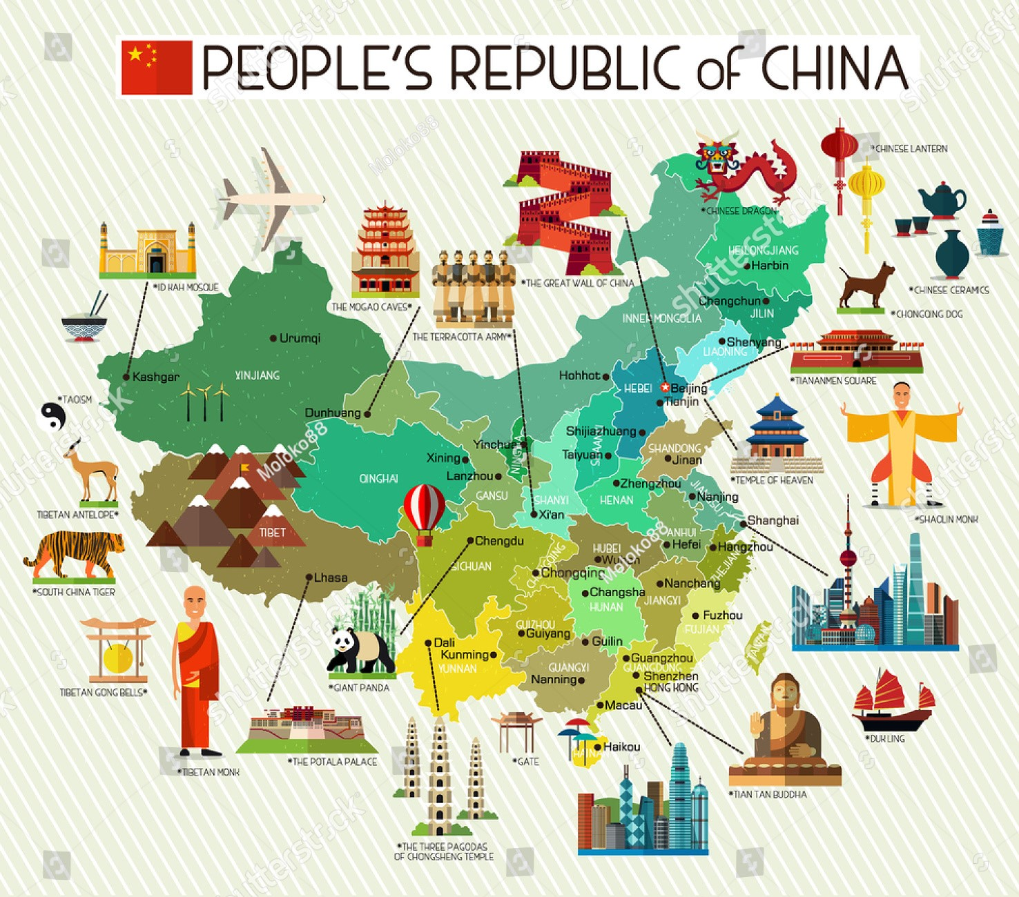 Chinese Travelling Map