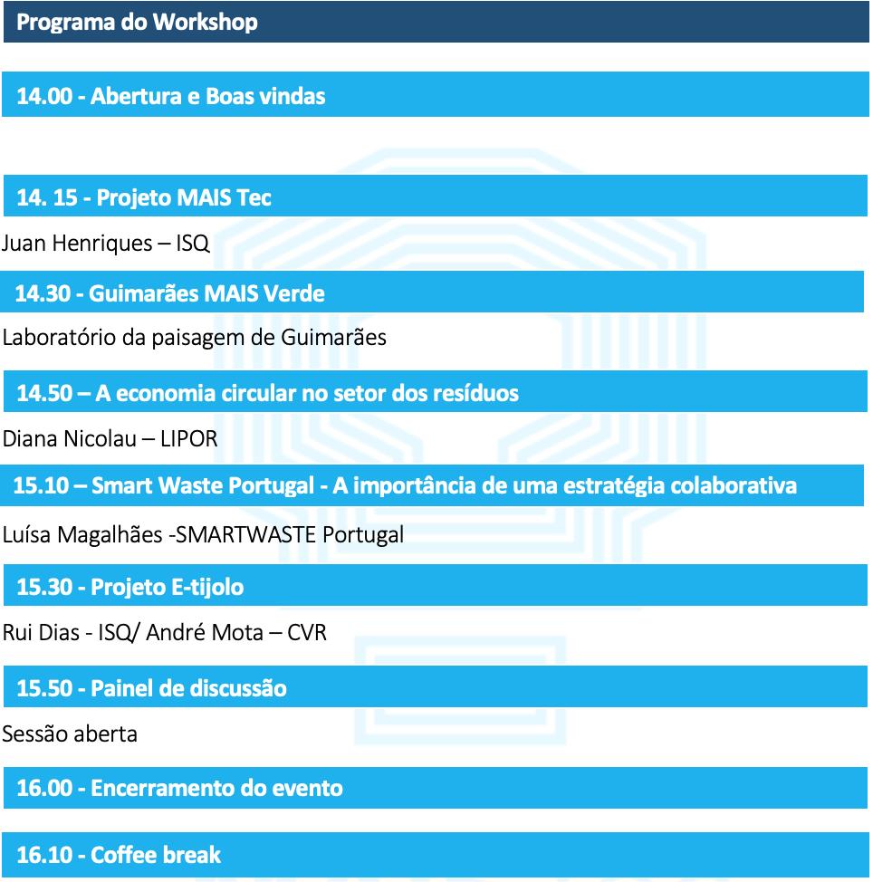 Programa do Evento MAISTEC SMART