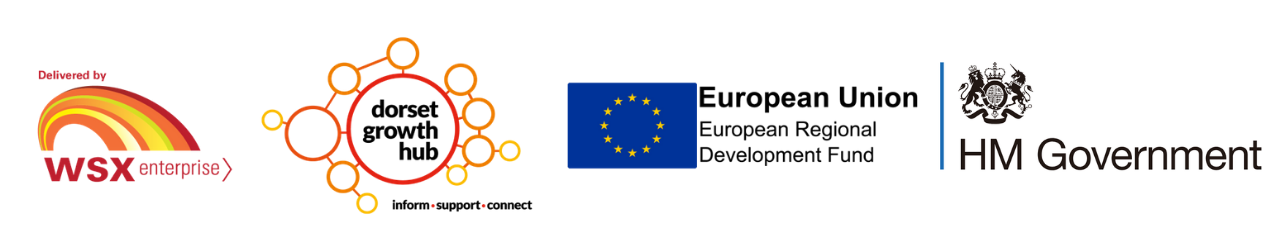 Banner of Logos including WSX, DGH, ERDF and HM Government