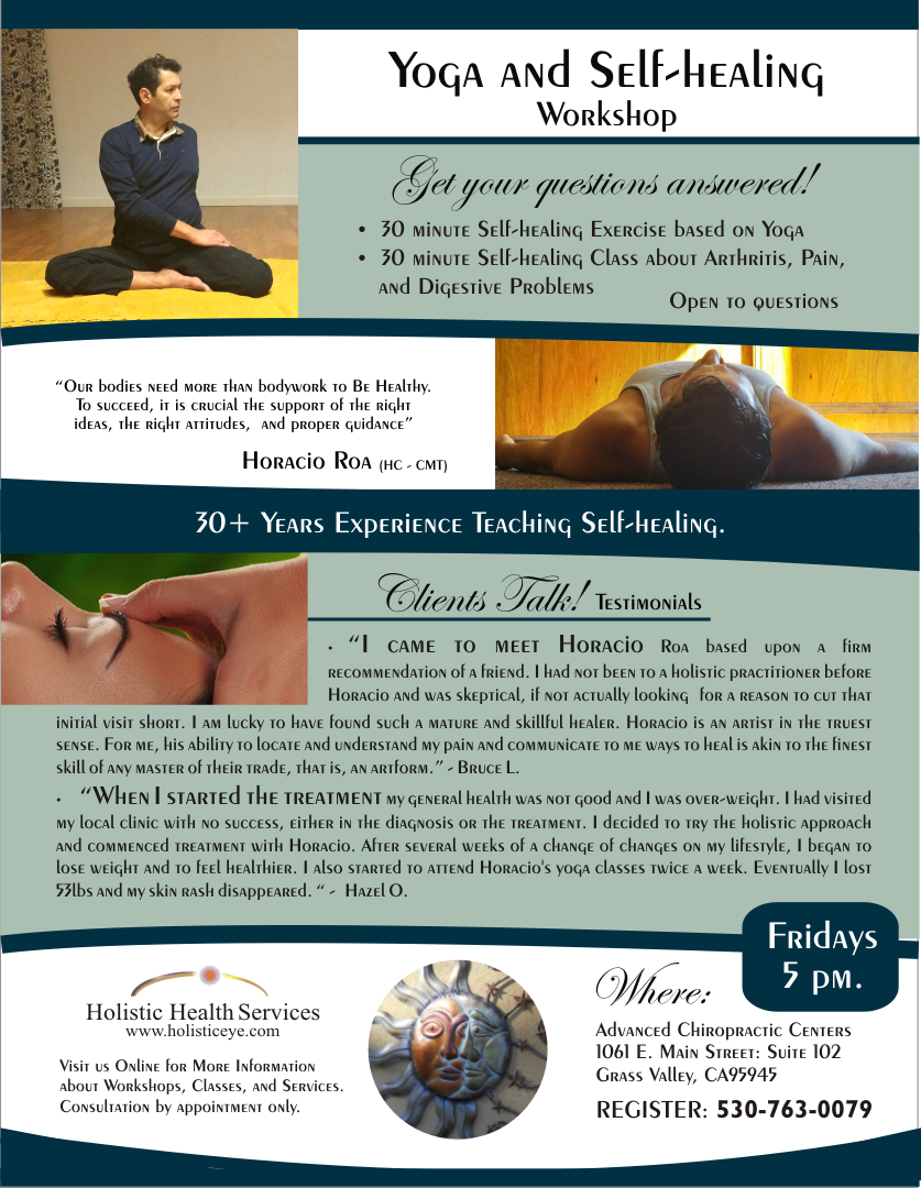 self-healing seminar with holistic health services