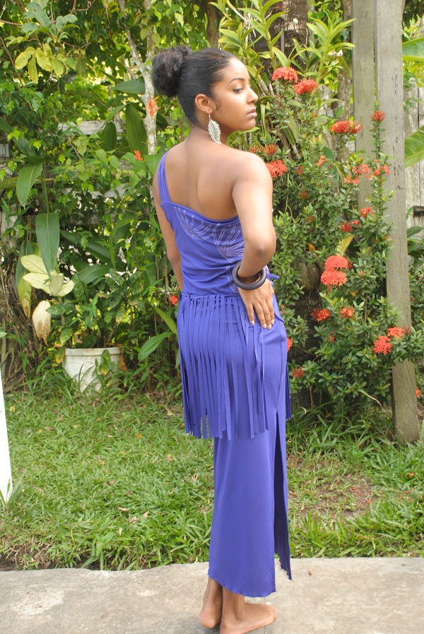 Purple fringe dress