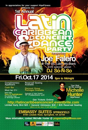 latin caribbean concert & dance party