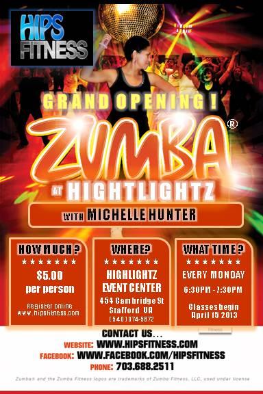 Zumba at Highlights Event Center