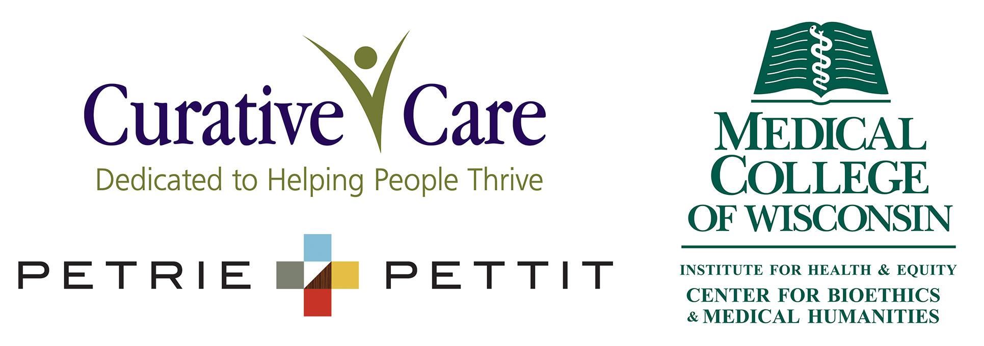 Presenter Logos - Curative Care, Petrie + Pettit, Medical College of Wisconsin